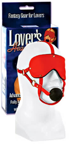 Lovers Headgear Advanced Red Eye Mask with Ball Gag ~  SE2737-11