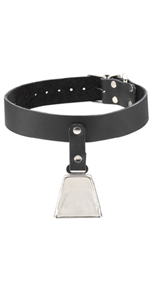 Spartacus Leather Collar with Bell ~  SPL-8J-12
