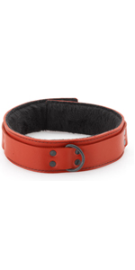Spartacus 1.5 Inches Red Leather Collar ~  SPL-8J-2R