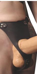 Big dildo harness