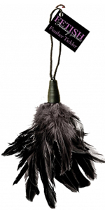 Black Fetish Fantasy Feather Tickler ~  PD2166-23