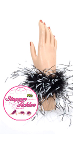 Flirt Black Slapper Tickler Bracelet  ~  SS930-57