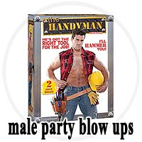 Male Blow-Up Party Dolls