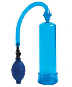 So Pumped Blue Penis Pump With Sleeve